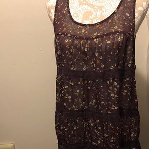 EUC Floral Sheer Tunic